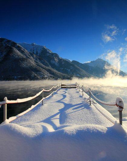 Wintertraum in Weiss & Himmelblau